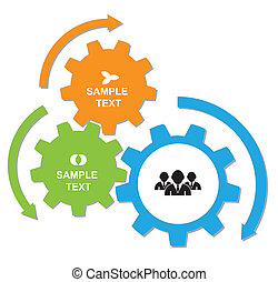 gear rotation - Vector Arrow for business concepts with...
