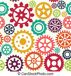 Gear seamless pattern