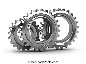 Gear set isolated on white