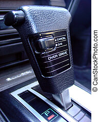 Gear Shift - A gear shifter for an automatic car.