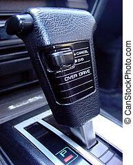 Gear Shift - A gear shifter for an automatic car.