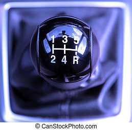 Gear shift - Car gear shift close up