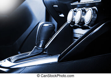 gear shift - interior design of the modern car