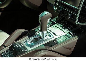 Gear shift - Photo of gear shift of a new car