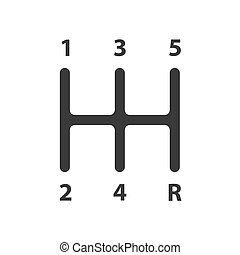 Gear shifter icon sign