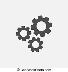 Gear simple icon isolated on white background