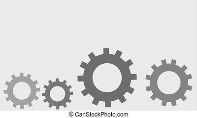 gear spinning icons - gears spinning icons animation design