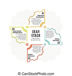 Gear-Stack Infographic - Vector illustration of gear-stack...