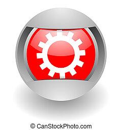 gear steel glosssy icon