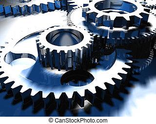 Gear mechanism - 3d render