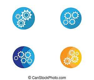 Gear symbol vector icon illustration