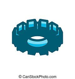 gear symbol vector illustration isolated on white background
