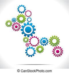 Gear system vector illustration