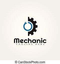 Gear technology vector logo design