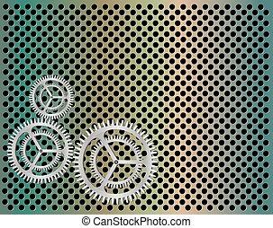 Gear vector background