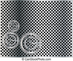 Gear vector background eps 10