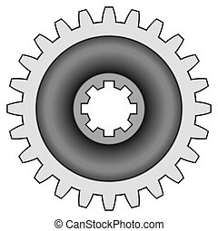 Gear - Pinion gear on white background - blend only
