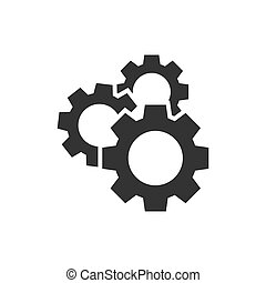 Gear vector icon in flat style. Cog wheel illustration on white isolated background. Gearwheel cogwheel business concept.