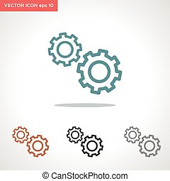gear vector icon isolated on white background