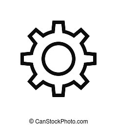Gear vector icon, setting symbol in modern design style for web site and mobile app