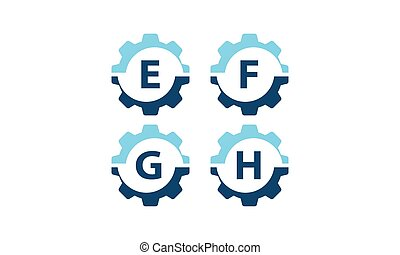 Gear Vector Template Set