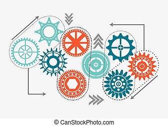 gear wheel design - gear wheel design, vector illustration...