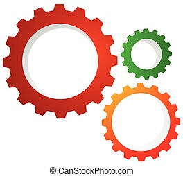Gear wheel, gear, cogwheel graphic. Vector illustration for...