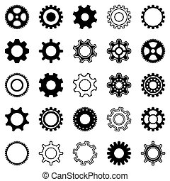 Gear wheel icons