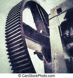 gear-wheel of a big old press