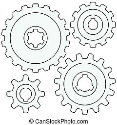 Gear wheel set - Illustration of the gear wheel icon set
