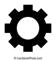 Gear wheel silhouette icon. Cog symbol. Vector