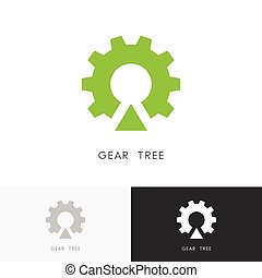 Gear wheel tree logo