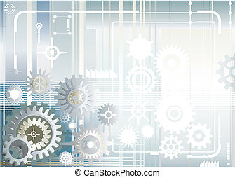 Gear Wheel - Vector file of gear wheel design and background
