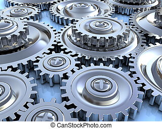 gear wheels background