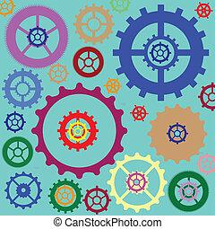 Gear wheels pattern