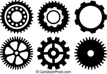 Gear wheels set