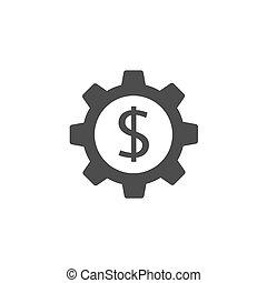 Gear with dollar icon