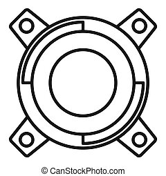 Gearbox releaser icon, outline style