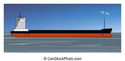 gearless cargo ship of dry bulk carrier