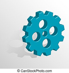 Gears 3d icon