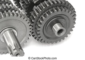 Gears #7 - Metallic gears closeup Processed by: Helicon ...
