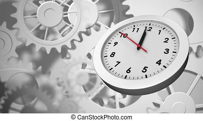Gears and clock