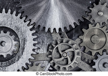 gears and cogs 3d illustration