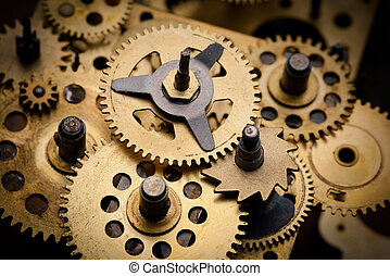 Gears and cogs close-up