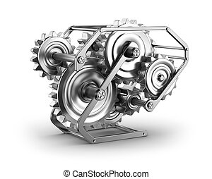 Gears and cogs - mechamism in metal