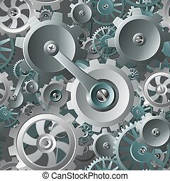 Gears and Cogs Seamless Machine Background