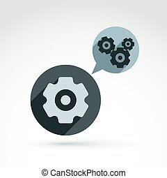 Gears and cogs system theme icon