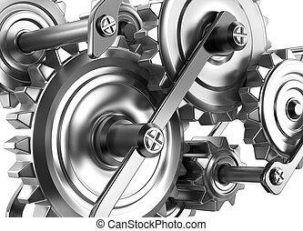 Gears and cogs working together. Reliable mechanism