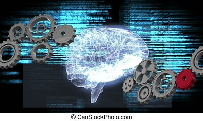 Gears and human brain