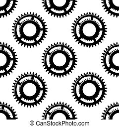 Gears and pinions seamless pattern